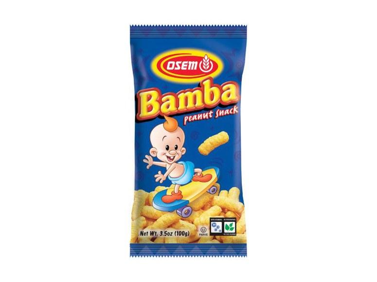 بامبا بامبا شبیه صورتک های پنیری است اما شور یا تند نیستند، بلکه مزه ای شبیه کره بادام زمینی دارد.