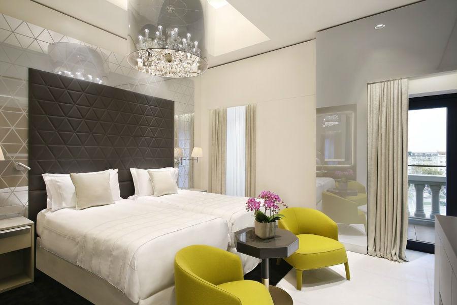 این سوئیت، مجموعا 4 اتاق خواب دارد که دو اتاق آن مخصوص کودکان بوده و لوسترهای آن از شیشه مورانو ساخته شده است.