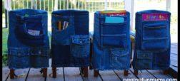آموزش دوخت روکش صندلی کودکان با استفاده از شلوار جین