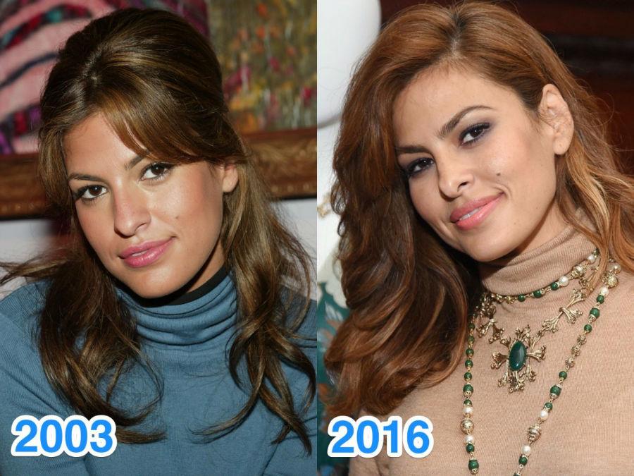 اوا مندس - 42 ساله - این عکس ها با اختلاف 13 سال گرفته شده اند اما او در هر دو تصویر یک شکل است