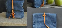 آموزش دوخت کیف دوشی کوچک با استفاده از شلوار جین