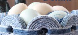 آموزش ساخت سبد تخم مرغ با استفاده از شلوار جین