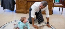 تصاویری جالب از آخرین روزهای خانواده اوباما در کاخ سفید