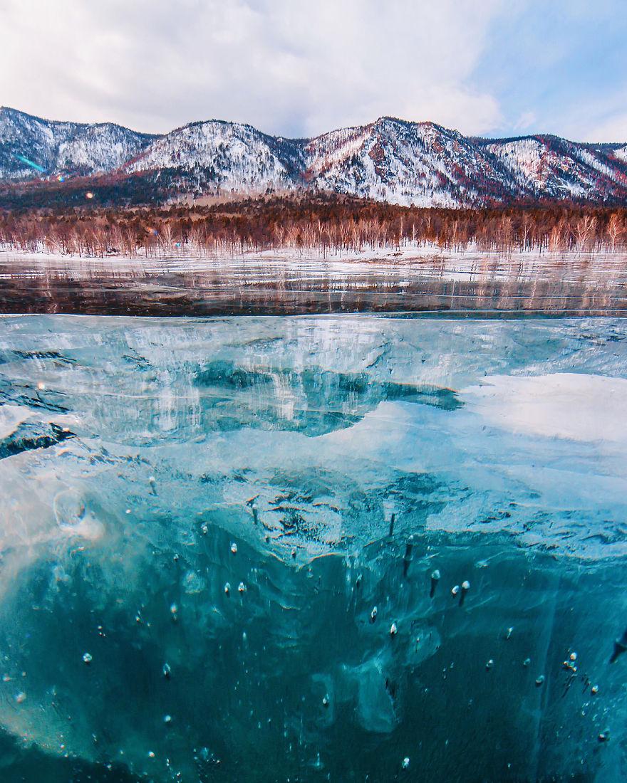 نگاهی به زیبایی های بی نظیر دریاچه بایکال در روسیه