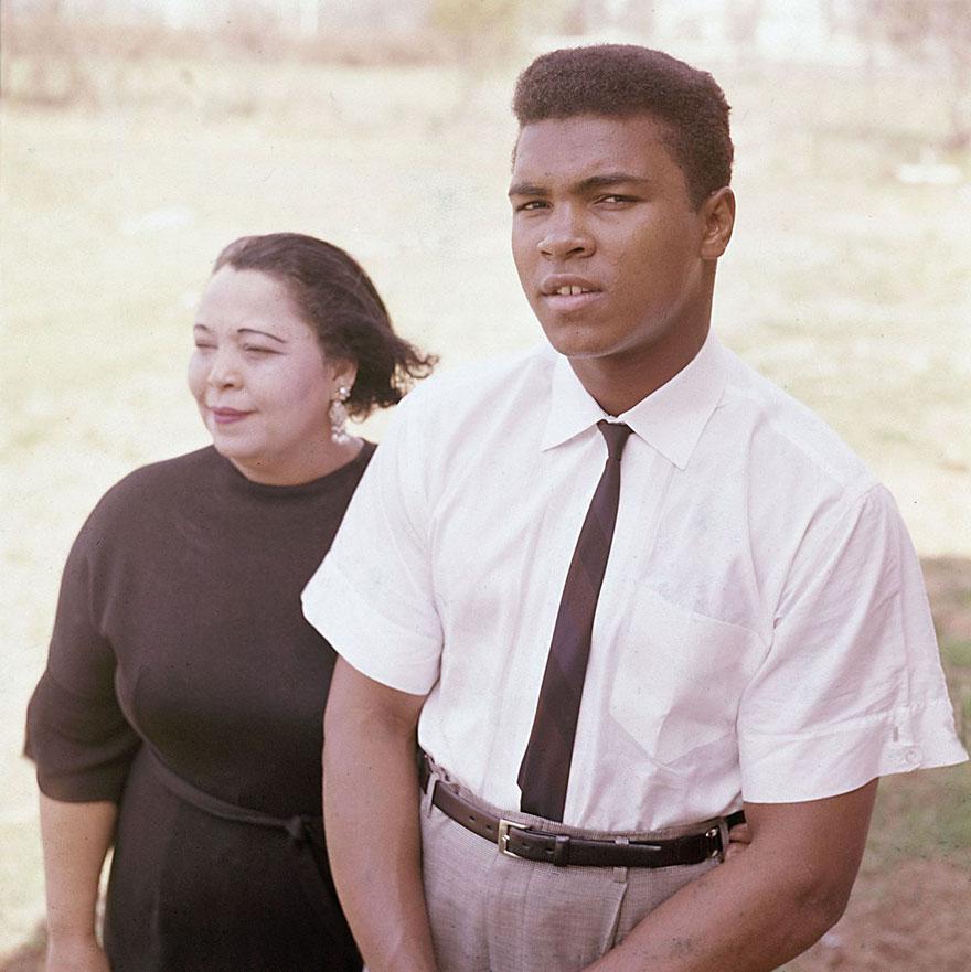 محمدعلی و مادرش اودیسه، 1963