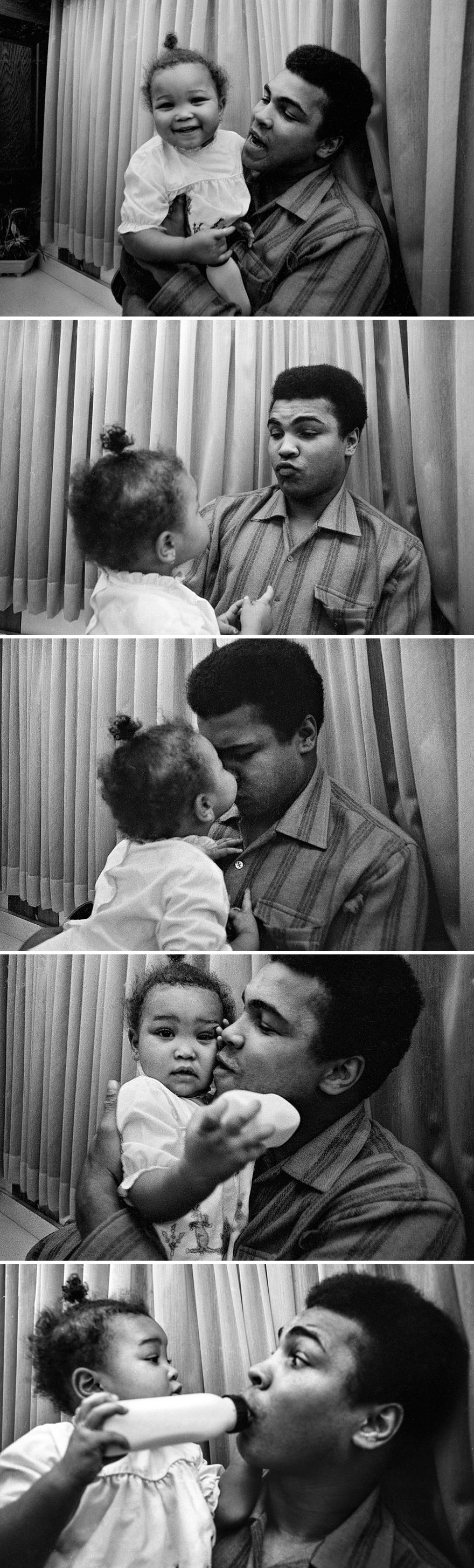 محمد علی با دخترش مریم - فوریه 1970