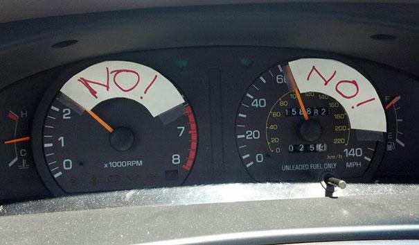 پدرم به این صورت مراقب رانندگی کردن من است