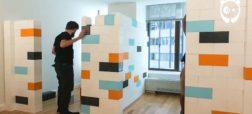 دیوار های لگویی برای بزرگسالان؛ ایده ای جدید و خلاقانه برای تغییر دکوراسیون [تماشا کنید]