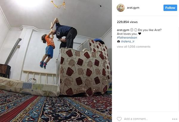 a11 آرات سه ساله؛نابغه جهانی آکروباتیک ایران+عکس و فیلم