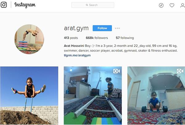 a3 آرات سه ساله؛نابغه جهانی آکروباتیک ایران+عکس و فیلم