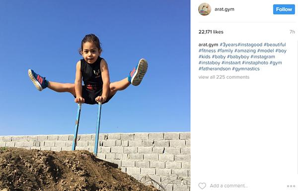 a4 آرات سه ساله؛نابغه جهانی آکروباتیک ایران+عکس و فیلم