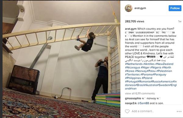 a7 آرات سه ساله؛نابغه جهانی آکروباتیک ایران+عکس و فیلم