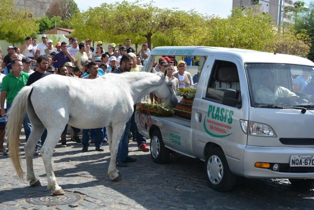 ادای احترام جالب و کم نظیر یک اسب به صاحب درگذشته خود در روز تشییع جنازه