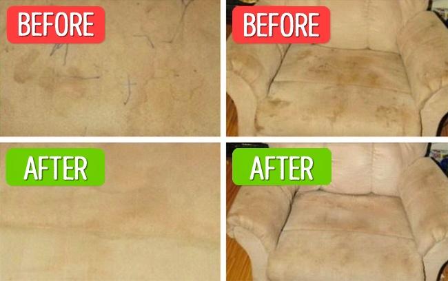 این نوع مبلمان به نگهداری ویژه ای نیاز دارند. با استفاده از یک اسفنج سفید و الکل، می توانید هرگونه لکه ای را از سطح آن ها پاک کنید. از محلول یاد شده روی لکه قرار داده و اجازه دهید تا خشک شود. سپس با استفاده از فرچه آن را پاک کنید.
