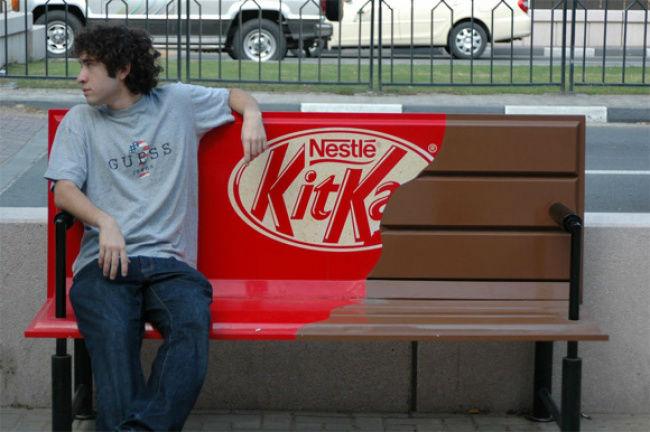 تبلیغات هوشمندانه | شکلات های کیت کت نستله