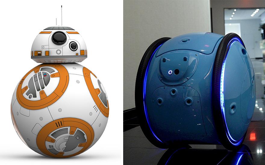 مقایسه تصویری BB-8 در جنگ ستاره ها و گیتا