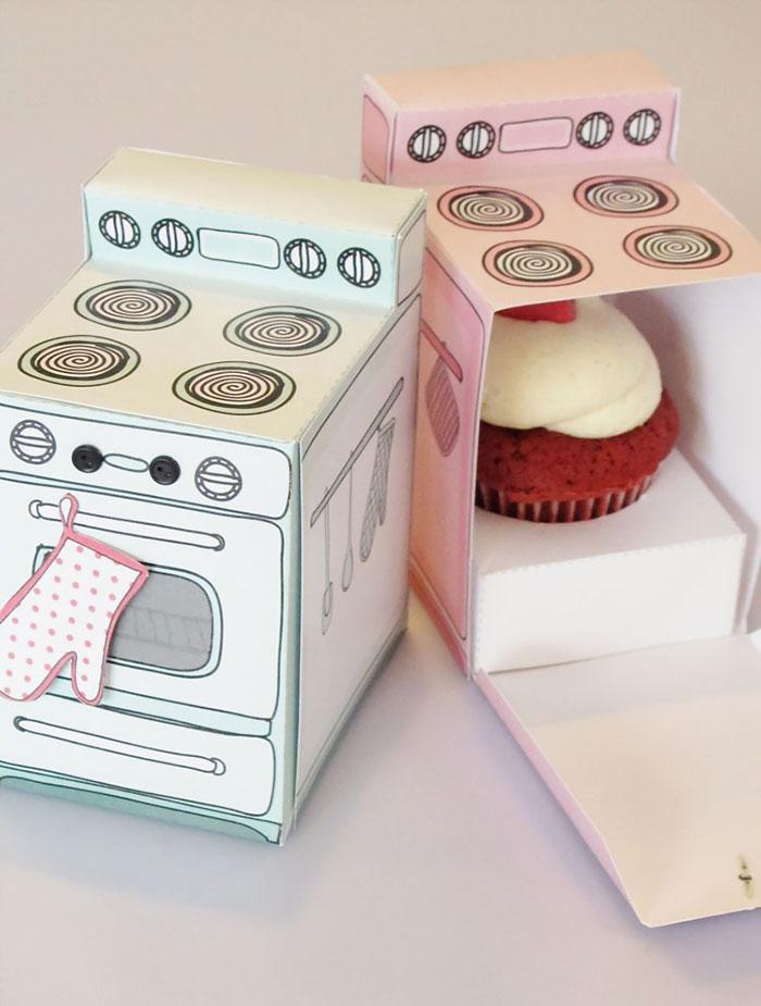بسته بندی خلاقانه کاپ کیک