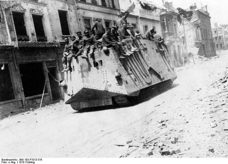 تانک A7V آلمانی - اروپا 1918