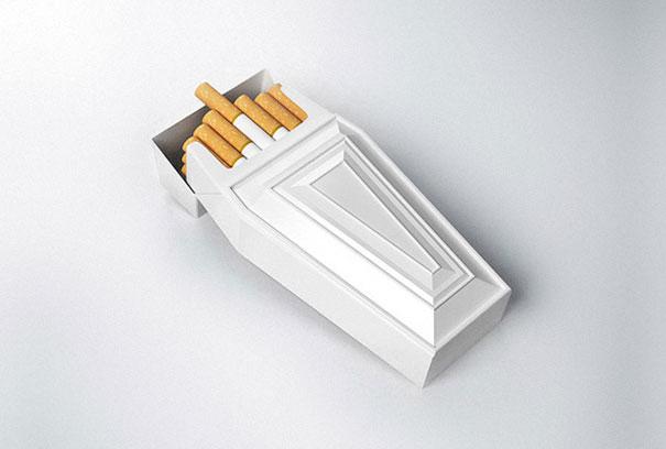 پاکت سیگار برای نمایش مضرات بی شمار سیگار