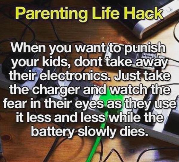96- وقتی فرزند شما به طور غیرمعمول از وسایل الکترونیکی استفاده می کند، آن وسیله را از وی نگیرید. بلکه شارژر آن را بردارید و ببینید که فرزندتان برای اینکه باتری دستگاه کمتر مصرف شود، چگونه با احتیاط و محدود از آن استفاده می کند.