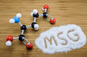 Molecule of glutamate (MSG) a flavor enhancer in many asian food