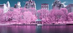 تصاویر حیرت انگیز از شهر نیویورک آمریکا که توسط تکنیک مادون قرمز درست شده اند