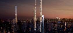 ساخت آسمان خراشی استثنایی و بی نظیر به شکل نعل اسب در شهر نیویورک آمریکا