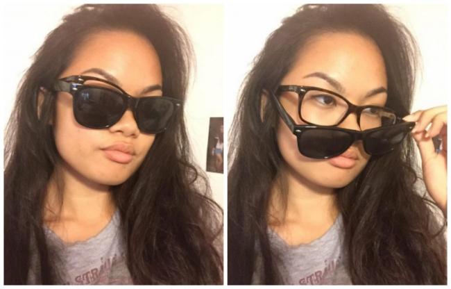 وقتی می خوای عینک دودی بزنی و بدون عینکت هیچی نمی بینی