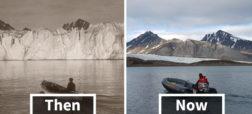 نگاهی به تصاویری که تغییرات اقلیمی قطب شمال در یکصد سال گذشته را نمایش می دهند