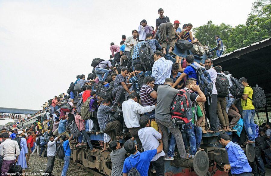 تصاویری از سیستم ضعیف حمل و نقل عمومی در بنگلادش که هر بیننده ای را متعجب می سازند