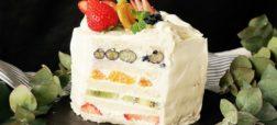 خوشمزه روز: کیک ساندویچی میوه [تماشا کنید]