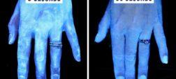 دست ها پس از شسته شدن چه شکلی پیدا می کنند؟ 3 ثانیه بعد / 30 ثانیه بعد