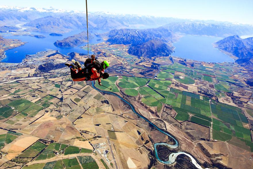 پرواز در ارتفاع 4500 متری از زمین روستای واناکا
