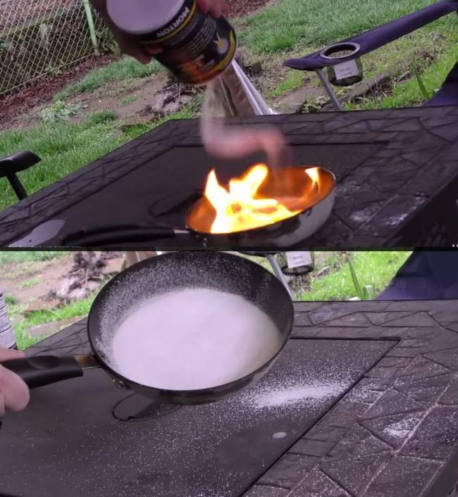 اطفای آتش در حین آشپزی: اگر در حین آشپزی روغن آتش گرفت و کنترل آن از دستتان خارج شد، فقط کافی است روی آن نمک بپاشید. این کار باعث می شود تا جریان اکسیژن قطع شده و آتش خاموش شود.