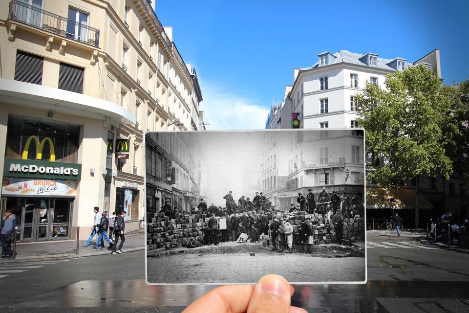 خیابان فوبورگ دو تمپل- 1871