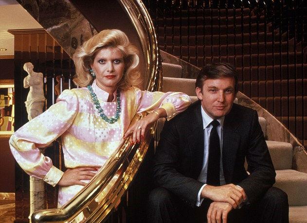 ترامپ در کنار همسر سابقش ایوانا ماری ترامپ