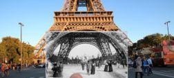 ادغام عکس های قدیم و جدید پاریس برای سفر به گذشته در یک نگاه