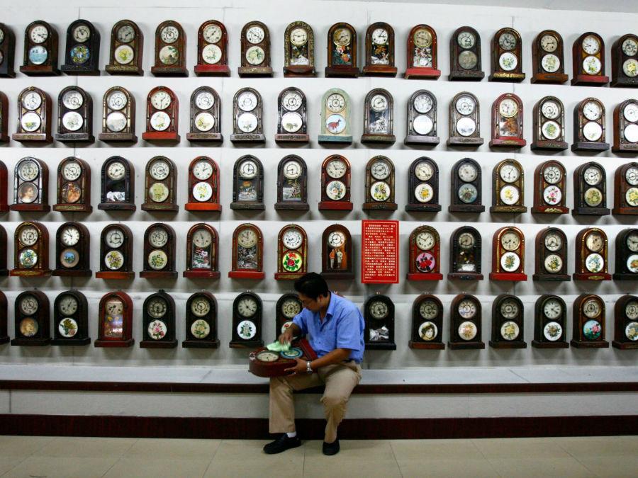 «لی تائو» موزه ای از ساعت های آنتیک در استان «لیائونینگ» چین دارد.
