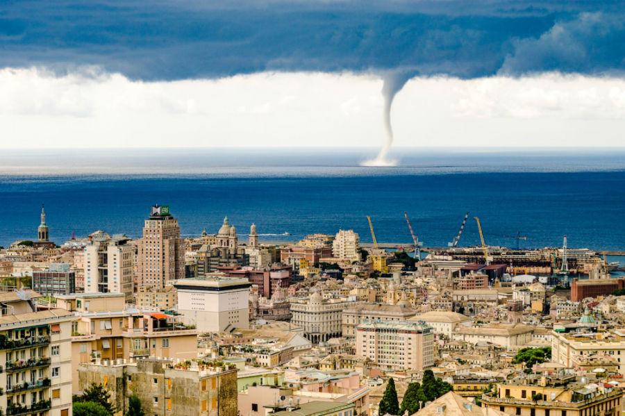 گردباد، ژنو، ایتالیا