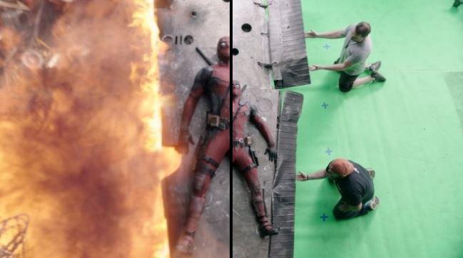 آنسوی دوربین؛ مجموعه عکس هایی که صحنه های فیلم های مشهور را بدون جلوه های ویژه نشان می دهند - روزیاتو