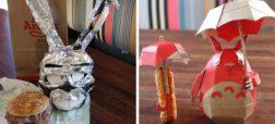 رستوران فست فودی که با غذاهای خود و برای جلب مشتری بیشتر تصاویر خلاقانه و بامزه می سازد