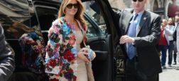 ملانیا ترامپ با کت ۵۱۵۰۰ دلاری خود به دیدار همسران وزرای گروه هفت رفت