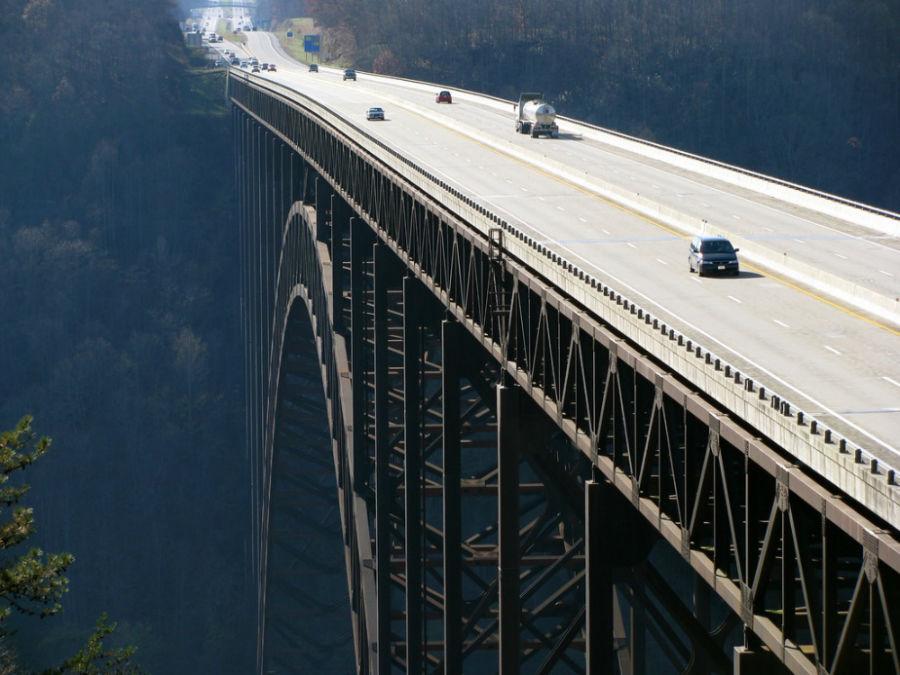 پل نیو ریور جرج، آمریکا