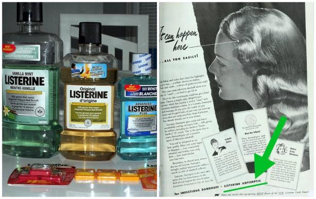 جوزف لارنس این ماده ضدعفونی کننده را نخستین بار در سال 1879 میلادی به منظور تمیز کردن ابزار جراحی اختراع کرد. نام آن از دکتر جوزف لیستر گرفته شده است. لیسترین در حال حاضر برای شست و شوی زخم، دندانپزشکی، از بین بردن قارچ ها و کپک ها و حتی در تولید دئودورانت ها مورد استفاده قرار می گیرد. این ماده ضدعفونی کننده، در قرن 20 میلادی پس از نخستین آگهی بازرگانی بسیار موردتوجه عموم قرار گرفت.