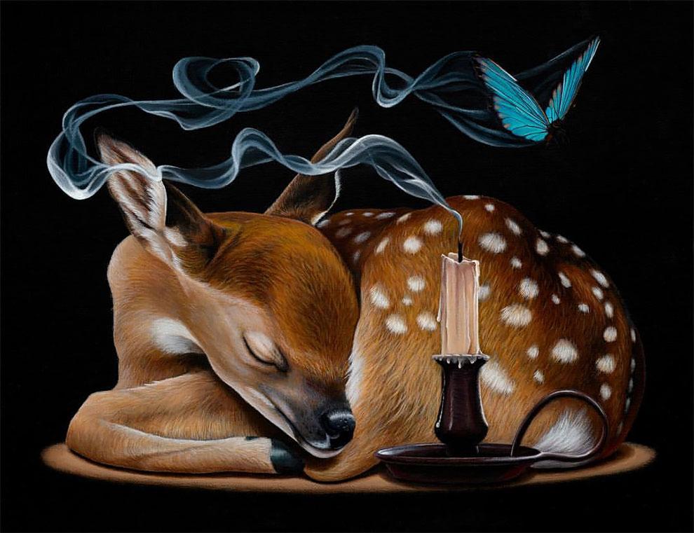 تصویرسازی های فراواقعی و زیبا از حیوانات که دنیا را به شکلی متفاوت نشان می دهند