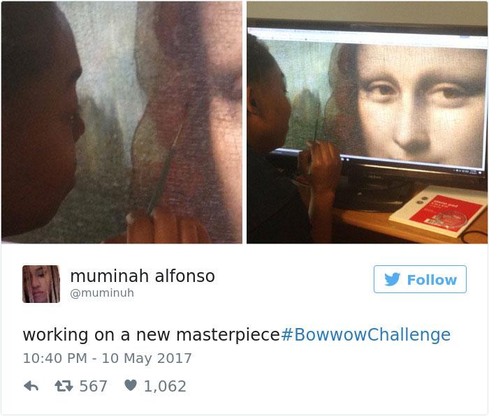 مشغول خلق یک شاهکار جدید #BowWowChallenge