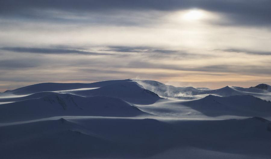 یک زمین یخی در جزیره Ellesmere در کانادا، 30 مارس 2017