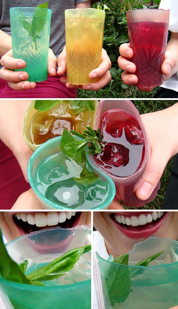 لیوان های ژله ای خوراکی