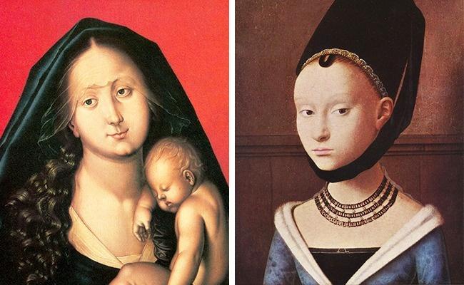 در این دوره از وسایل آرایشی زیادی استفاده می شد و زنان صورت های خود را نقاشی می کردند. یکی از مدهای عجیب آن زمان، پیشانی های بلند بود به طوری که گاهی زنان موهای جلوی سر خود را می تراشیدند تا پیشانی شان بلندتر و کشیده تر دیده شود. همچنین مژه های خود را با موچین برمی داشتند.