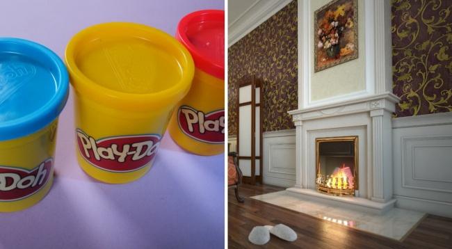 خمیر بازی ابتدا برای تمیز کردن کاغذ دیواری در خانه هایی که دارای شومینه بودند و دوده زیادی روی دیوارها انباشته می شد، اختراع شد. اما پس از عرضه کاغذدیواری از جنس وینیل که به راحتی با کمک یک اسفنج خیس تمیز می شدند، این ماده کاربرد خود را در خانه ها از دست داد. اما در همان زمان، یک مربی مهدکودک، در اقدامی جالب این تمیزکننده را در اختیار کودکان قرار داد تا با آن ها بازی کنند. شدت هیجان و علاقه کودکان به خمیربازی موجب شد تا ماده شوینده از مواد اولیه آن حذف شده و رنگ های گوناگون به آن اضافه گشته و به عنوان یک وسیله بازی جدید برای کودکان ارائه شود. که بعدها به نام «خمیر بازی» شهرت یافت.